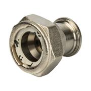 Разъемное соединение с плоским уплотнением и обратным клапаном никелированное