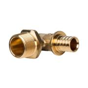 Угольник-переходник с наружной резьбой для труб из сшитого полиэтилена