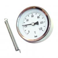 Термометр биметаллический накладной с пружиной