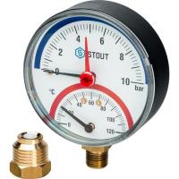 Термоманометр в комплекте с автоматическим запорным клапаном