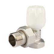 Клапан терморегулирующий с неподъемным шпинделем угловой